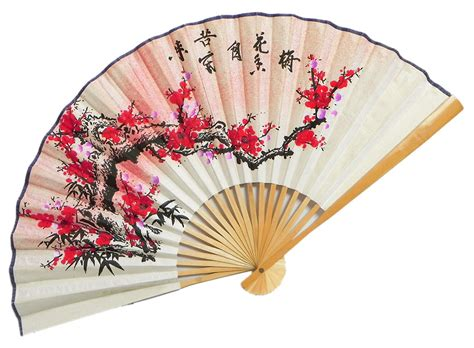 japanese paper fan craft the setting sun meets the blossoming flowers wall