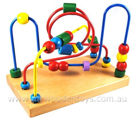 toys with on wires wire bead maze traditional at my wooden toys
