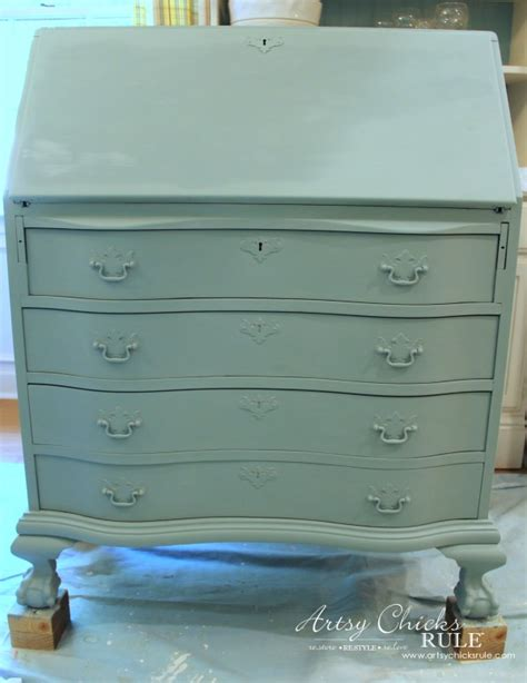 chalk paint qld desk makeover w duck egg blue 3 colored waxes