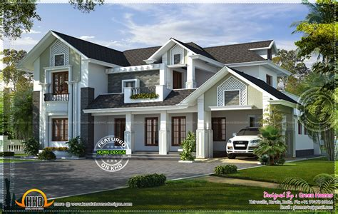 style house western style house rendering kerala home design and