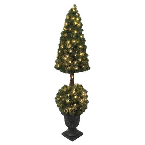 pre lit outdoor tree premium pre lit artificial topiary tree indoor outdoor
