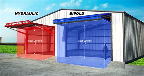 overhead bifold doors schweiss doors steel building details commercial