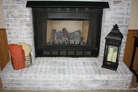 diy chalk paint fireplace painting brick with debi s diy chalk type paint farm