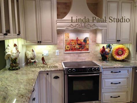 Ceramic Tile Murals For Kitchen Backsplash rooster country decor best home decoration world class