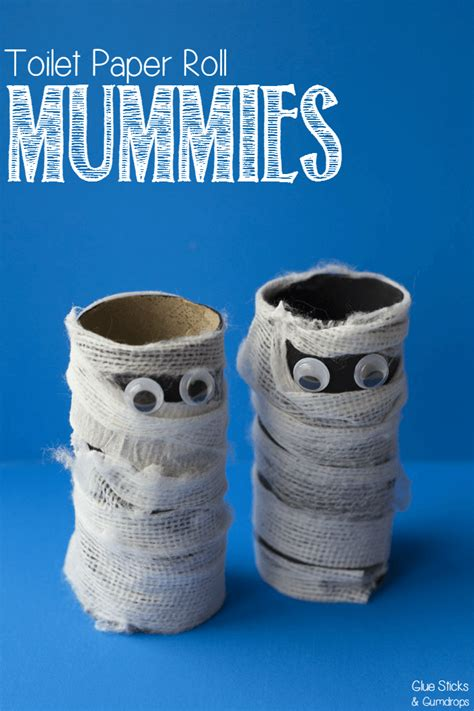 Toilet Paper Roll Mummy Craft For