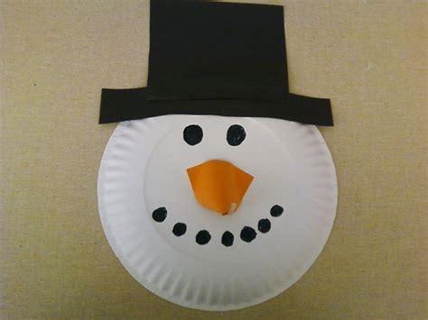 paper plate snowman craft snowman paper plate crafts