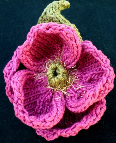 knitted flower knit flower pattern a knitting