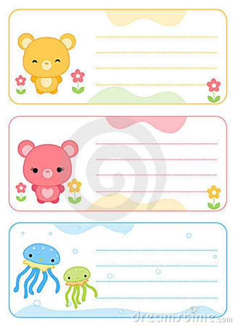 card for children children name cards royalty free stock photo image 16189925