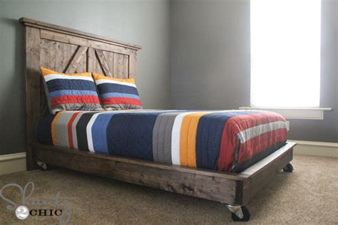 bed frame on wheels 15 diy platform beds that are easy to build home and