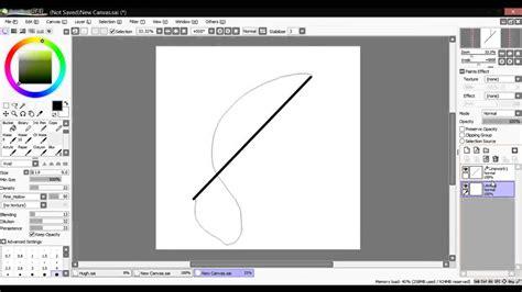 paint tool sai no line tool paint tool sai curve tool tutorial