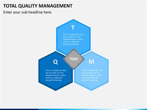 total quality management powerpoint template sketchbubble