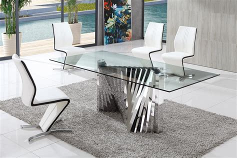 dining room sets glass table modern glass dining tables decorating ideas for glass