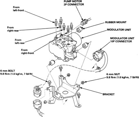 repair anti lock braking 1992 honda civic parking system repair guides anti lock brake system abs modulator autozone com