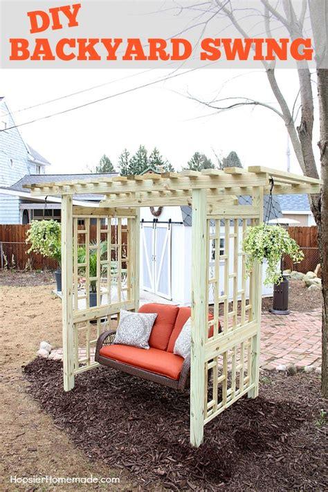 diy backyard swing diy backyard swing hoosier