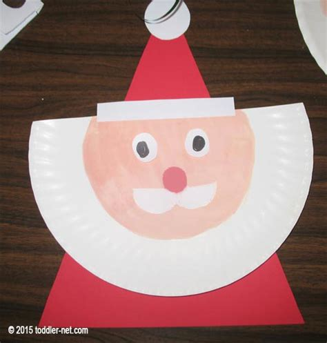 santa paper plate craft paper plate santa claus craft for children