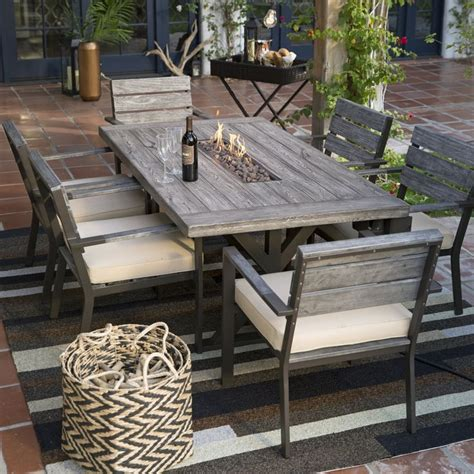 outdoor dining room furniture 25 best ideas about pit table on outdoor