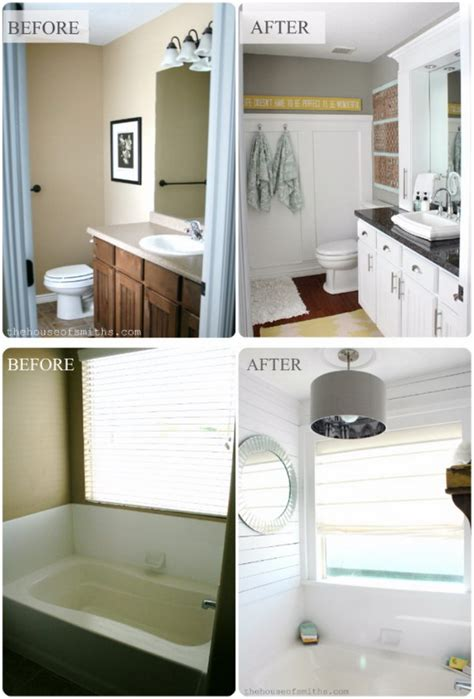Bathroom Vanity Makeover by Before And After 20 Awesome Bathroom Makeovers Hative