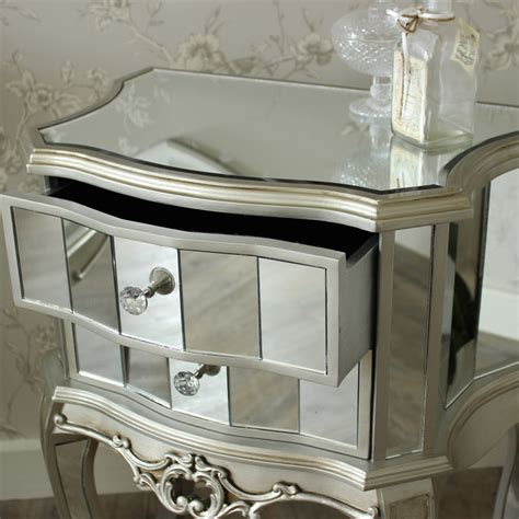 mirrored bedroom furniture set mirrored furniture set wardrobe chest bedsides bedroom