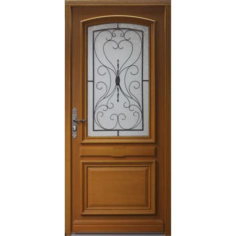 porte d entr 233 e bois gignac artens poussant droit h 215 x l 90 cm leroy merlin