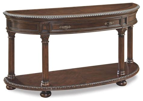 traditional sofa tables a r t demi lune sofa table traditional console
