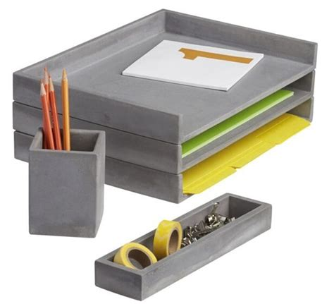 office supplies for desk cement desk accessories letter tray pencil cup and