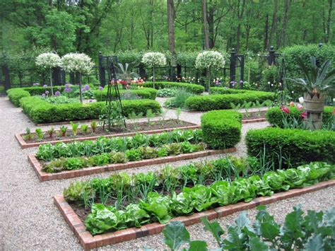 the of the kitchen garden creating a beautiful