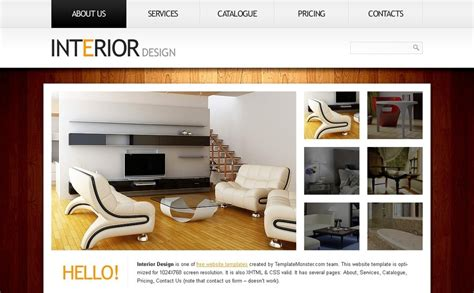 interior design website templates free website template clean style interior
