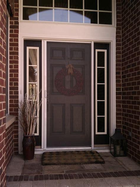 front door screens mirage retractable door screens entry doors