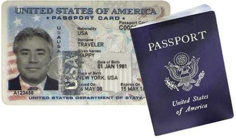 picture of a passport book passport book vs passport card