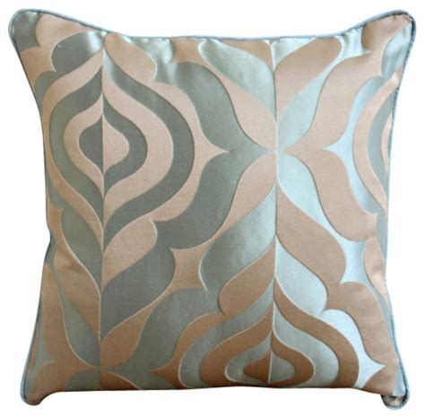 the homecentric blue jacquard weave vintage damask pillows cover teal luxury decorative