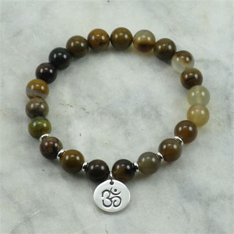mala bead akasha mala 21 wood agate mala buddhist prayer