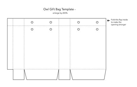 6 best images of paper bag template printable paper gift