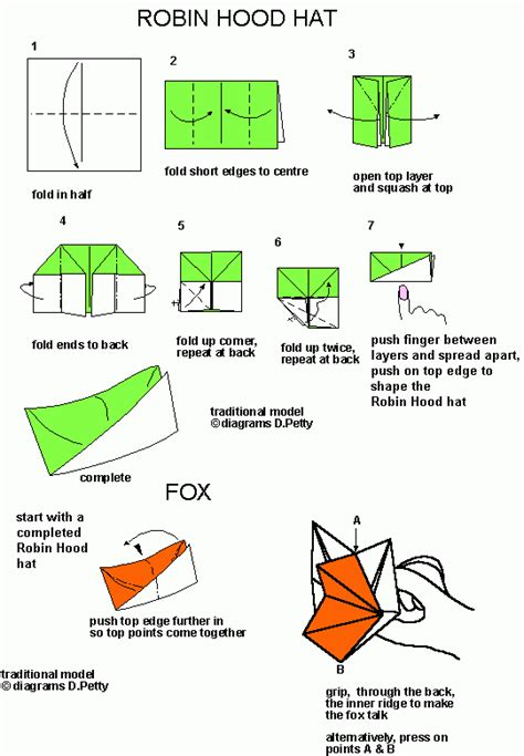 Robin Hat Origami Tutorial Crafts Hats