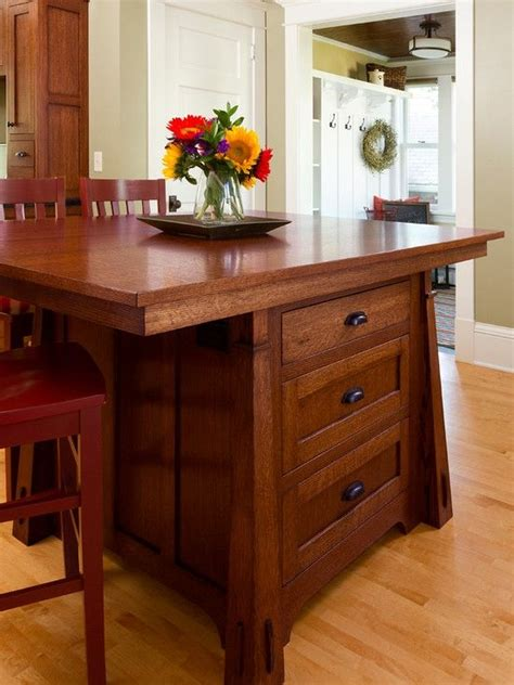 mission style kitchen island craftsman style kitchen island with 3 sides of seating
