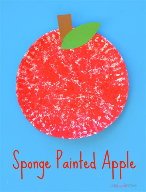 sponge paper craft sponge painted apple craft for the resourceful