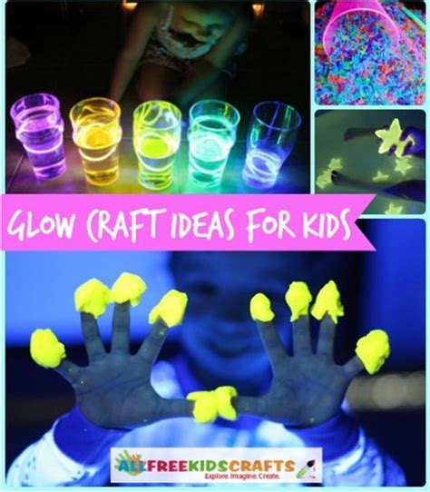 glow in the crafts for glow in the mini water allfreekidscrafts