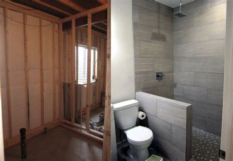 Bathroom Remodel On A Budget Ideas how to finish a basement bathroom before and after pictures