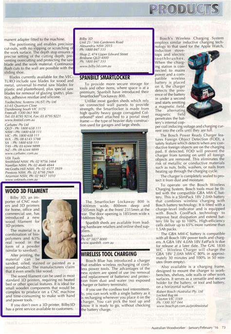 australian woodworker magazine bilby 3d media