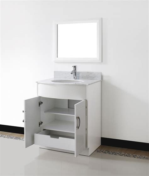 Small White Cabinet For Bathroom by Zoe 28 Quot Small White Bathroom Vanity Countertop
