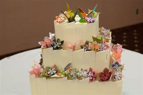 how to make a origami cake origami wedding cake cakecentral
