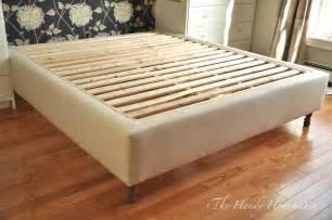diy bed frame upholstered bed frame diy part 1