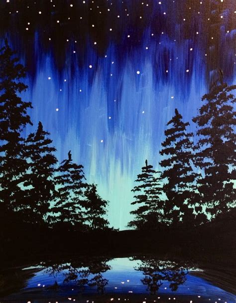 acrylic painting sky best 10 tree paintings ideas on