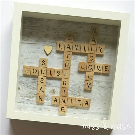 scrabble names custom made family name frame personalised scrabble