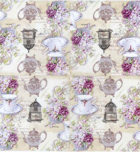 purple decoupage paper decoupage paper of tea pot tea cup purple roses tea