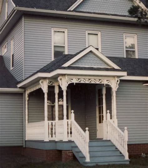 vintage woodworks porch guide 2 story with front gable by vintage woodworks