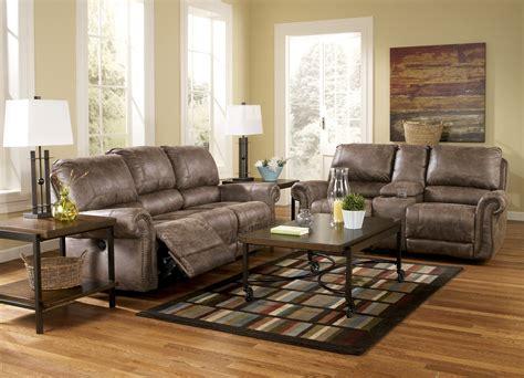 reclining living room set oberson gunsmoke power reclining living room set 74100