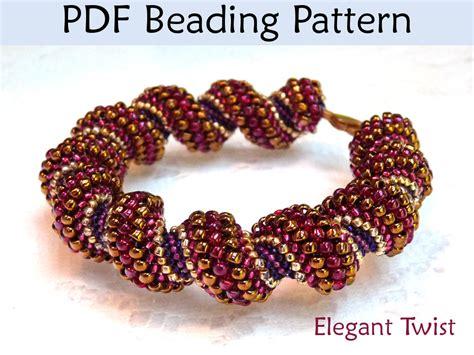 peyote bead bracelet patterns pdf jewelry pattern cellini spiral tubular peyote