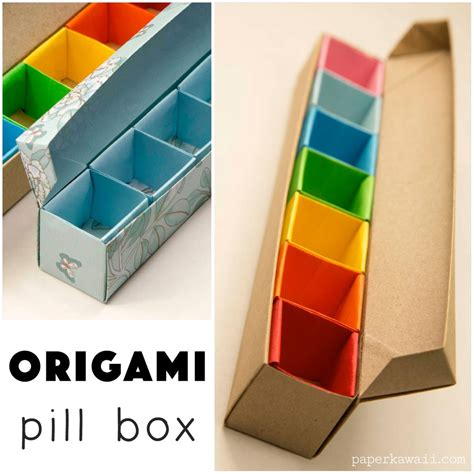 origami pill box paperized crafts