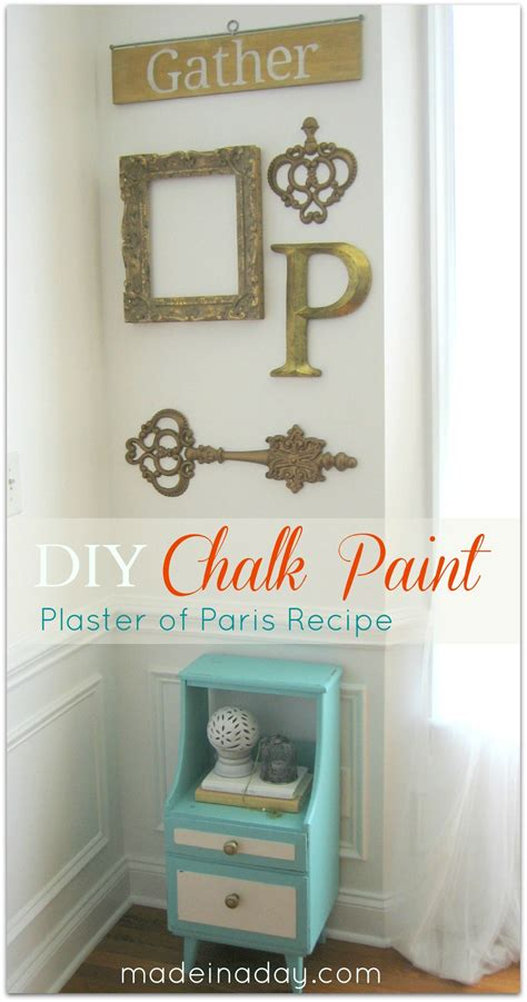 diy chalk paint using plaster of chalk paint vintage side table up do made in a day