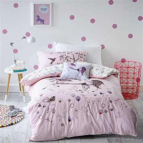magical unicorn dreaming quilt cover set bedding single